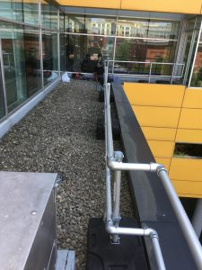 Guardrail for rooftop fall protection